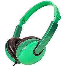 Snug Plug n Play Auriculares Infantiles para Niños Estilo DJ (Verde)
