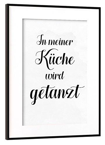 artboxONE Poster mit Rahmen Schwarz (Metallic) 45x30 cm in Meiner Küche Wird getanzt von Dunja Krefft
