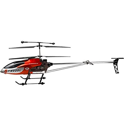 Clode® New 53 Inch Extra Large GT QS8006-2 Speed 3.5 Ch RC Helicopter Builtin Gyro Red by Clode