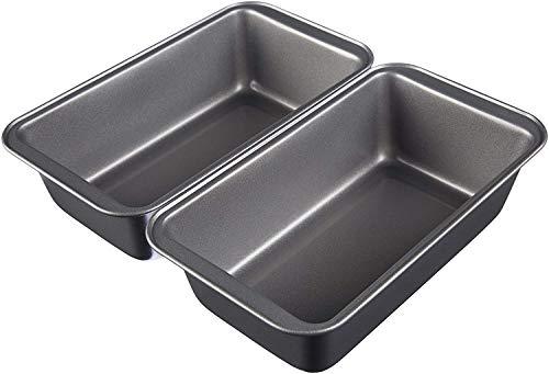 AmazonBasics - Moldes para hornear pan, antiadherentes, de acero al carbono, juego de 2 - 23,5 x 12,7...