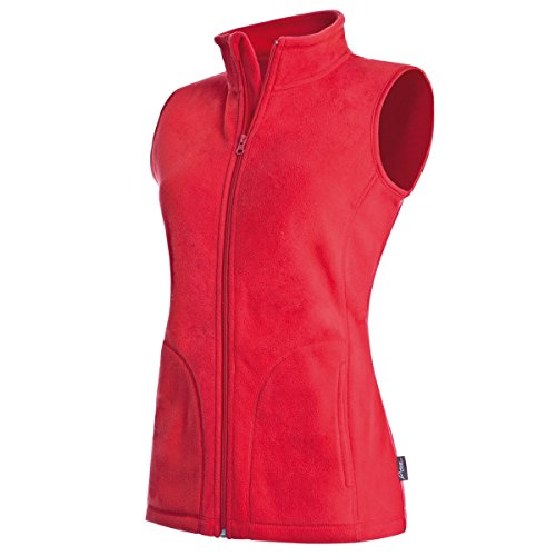 Active By Stedman Damen Fleece-Weste (S) (Rot) S,Rot (Kapuzen-fleece-weste)