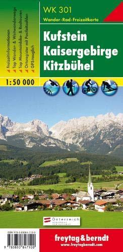 Kufstein - Kaisergebirge - Kitzbühel, Wanderkarte 1:50.000, WK 301: Wandel- en fietskaart 1:50 000 (freytag & berndt Wander-Rad-Freizeitkarten)