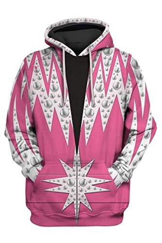 MingoTor Herren Damen für Elton John Raketenmann Rocketmann Kapuzenjacke 3D Pullover mit Kapuze Sweatjacke Hoodie Cosplay Kostüm Unisex