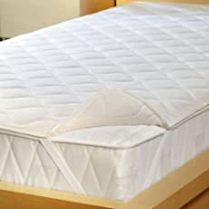 Trance Home Linen Quilted & Dustproof Mattress Protector White