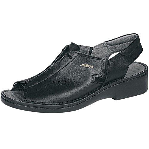 ABEBA donna scarpa per il lavoro scarpa in pelle colore Nero 3081 tallone di cinghie statiche annusandosi hem riparare massaggio base letto Black