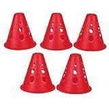 5X Leuchtend rot Slalom Cones Kegel für Slalom Skating MARKIERUNGSKEGEL