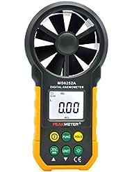 LCD Ms6252a Velocidad del Viento Anemómetro Digital, Medidor de Medida de la Velocidad del Aire