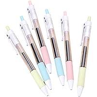 Toruiwa 6X Bolígrafo Roller de Tinta Plumas de Tinta Plumas de fantasía Tinta Negra 0.5mm