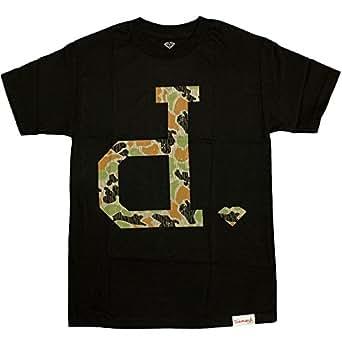 Diamond supply co un polo rain camo t shirt black amazon for Diamond supply co polo shirts