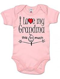 IiE, I love my Grandma this much, Baby Girl Bodysuit