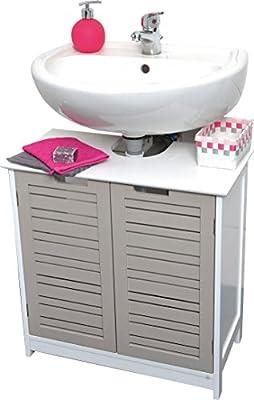 Mueble para debajo del lavabo - 2 puertas y 1 estantería - Mueble de diseño