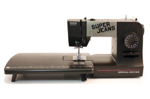 Toyota SUPERJ15PE Allround - Máquina de coser (brazo libre, 15 programas, utilidad para vaqueros, se incluye mesa de ampliación)