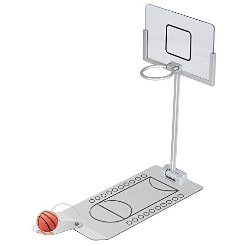 MacDoDo Mini Foldable Tabletop Spring Loaded Basketball Game Desktop Toy- Indoor Outdoor Fun Sports Novelty Toy or Gag Gift Idea