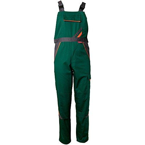 Planam Latzhose Visline, Größe 27, 1 Stück, grün / orange / schiefer, 2432027