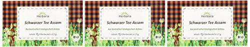 Herbaria schwarzer Tee Assam bio, 3er Pack (3 x 26 g)