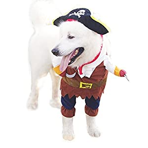 Labellevie Costume pour Chien Chat Vêtement Déguisement Pirates Halloween Noël