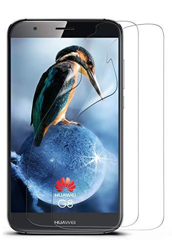 moex 2X Huawei G8   Schutzfolie Klar Bildschirm Schutz [Crystal-Clear] Screen Protector Display Handy-Folie Dünn Bildschirmschutz-Folie für Huawei G8/G8X Bildschirmfolie