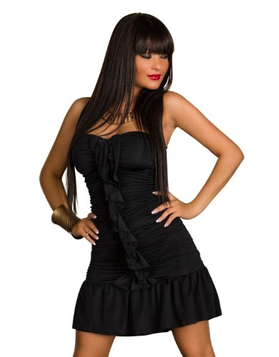 Fashion4Young - Robe - Sans bretelle - Femme Schwarz