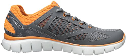 SkechersSkech-Flex Life Force - Sneaker uomo Grigio (Grey (Charcoal/Orange Ccor))