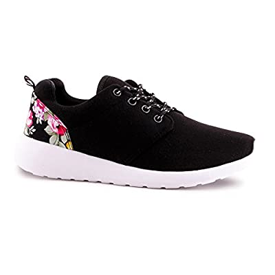 Damen Sneaker Blumen Print Sportschuhe Lauf Turnschuhe Schuhe