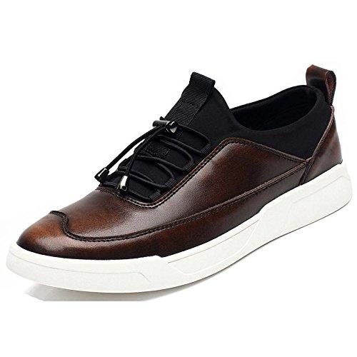 Hombres Zapatos Gruesos De Fondo Zapatos Deportivos De Moda Zapatillas De Deporte Recreativas Zapatos De Trabajo Al Aire Libre Euro Tamaño 38-44 Marrón