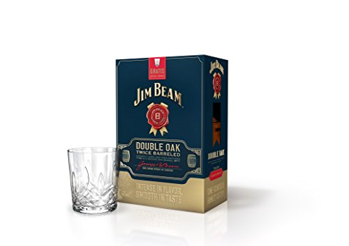 Jim Beam Double Oak Bourbon Whiskey Geschenkkarton incl. Kristall-Tumbler
