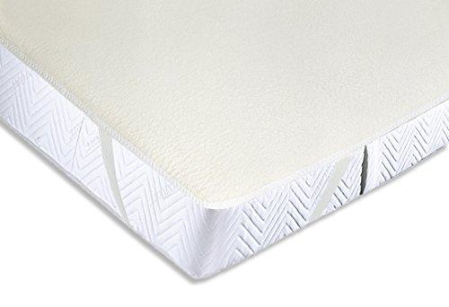 ZOLLNER® strapazierfähiger Matratzenmolton / Matratzenspannauflage / Matratzenschoner 100% Baumwolle, Größe ca. 180x200 cm, in weiteren Größen erhältlich, Serie