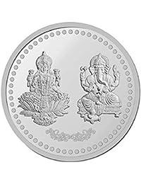 LVA CREATIONS 5 gram/gm silver coin/bar Bis Hallmark 999 fine silver 5 GM Laxmi/Lakshmi ganesh for gift in happy birthday & happy anniversary.Festive gift pack for pooja & Dhanteras diwali.