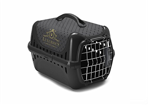 "Moderna-T153-015-AA Trendy Runner ""Luxurious Pets"" Transportbox Schwarz"