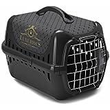 """Moderna-T153-015-AA Trendy Runner """"Luxurious Pets"""" Transportbox Schwarz"""