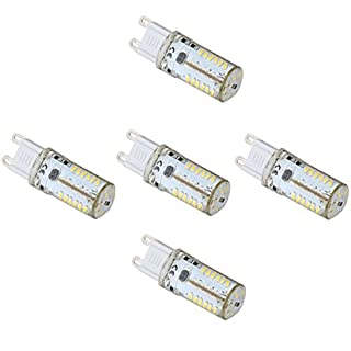 5X LED G9 Glühlampen Licht Lampe 4 Watt 57 SMD 3014 AC/DC 12V / 10-20V Entspricht 30W Halogen-Glühlampen-Ersatz (Farbe: Warmweiß), Warmweiß