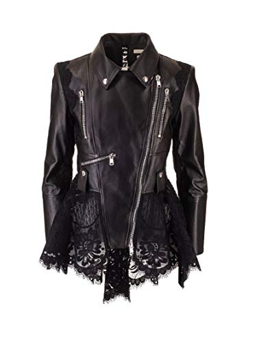 Alexander McQueen Luxury Fashion Damen 610855Q5ADI1000 Schwarz Jacke | 8