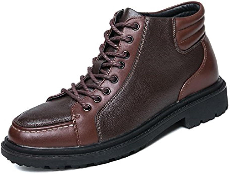 Herren Mode Freizeit Martin Stiefel Schutzfuß Lässige Schuhe Rutschfest Flache Schuhe Licht Warm halten Lederschuhe