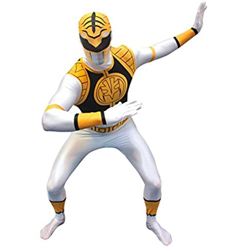 Morphsuits - disfraz de vestuario como Power Rangers, Adulto, talla: L, color: blanco