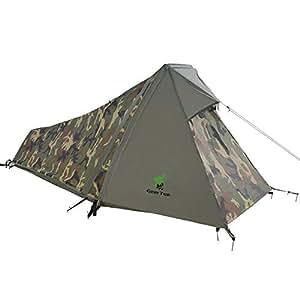 Geertop Tente Ultra Légère Bivvy 1 Personne 3~4 Saison pour Randonnée Camping Trekking d'Extérieur Pole en Aluminium - 213 x 101 x 91 cm (1,5 kg)
