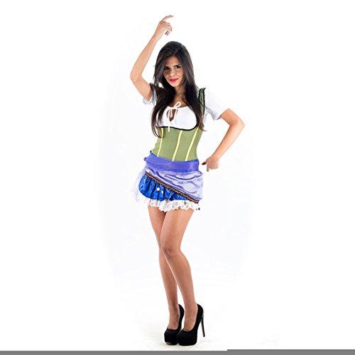 Kostüm Esmeralda Lila (Esmeralda Frauen Für Kostüm)