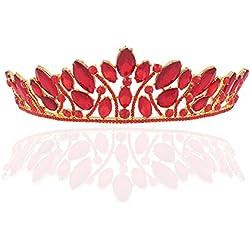 Demarkt Boda Mujer Reina Corona Novia Banda para el Cabello Adornos de Pelo Accesorios De Boda Novia de Diadema Corona Brillante Diadema de Diamantes de Imitación