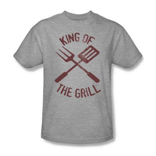 Grill King Of The per adulto, taglia S/S-T-Shirt da uomo Heather