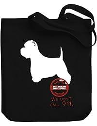 Teeburon West Highland White Terrier Security Services We don't call 911 Bolsa de Lona
