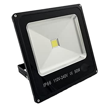 Faro led ip65 faretto luce calda fari da esterno 50w resa for Led esterno 50w