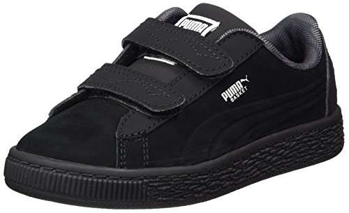 Puma Unisex-Kinder JL Batman Basket V PS Sneaker, Schwarz (Black-Black), 35 EU (Batman Turnschuhe)
