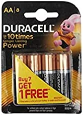 Duracell Alkaline AA Battery with Duralock Technology - Buy 7 get 1 Free