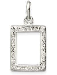 Colgante de plata de ley 925 sólido marco de fotos colgante ...