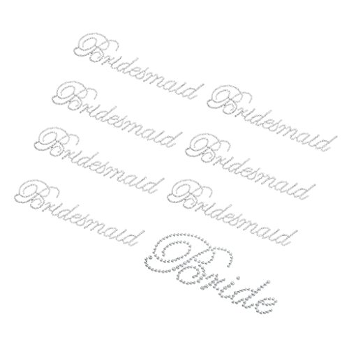 5b194b1dbe MagiDeal 8/set Clear Rhinestone Bride Bridesmaid Stickers Supplies ...