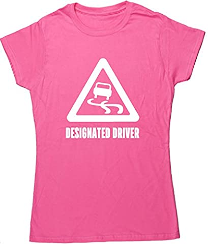 HippoWarehouse Designated Driver womens fitted short sleeve t-shirt (Specific size guide in