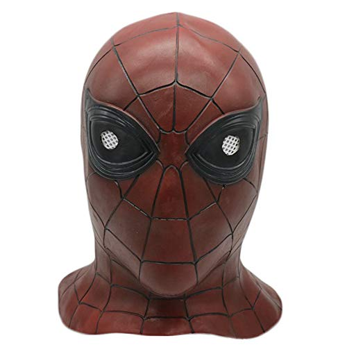 QQWE Marvel Hero Spiderman Cosplay Latex Maske Film Cosplay Kopfbedeckung Show Maskerade Thema Party Kostüm Prop,A-OneSize