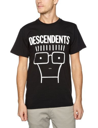 Descendents - Uomo Classic Milo T-Shirt, Large, Nero