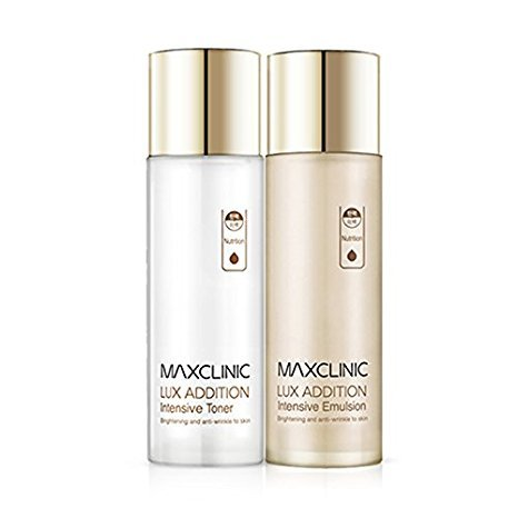 Maxclinic Lux Addition Intensive Toner 130ml,Emulsion 130ml,Anti-Wrinkle,Whitening,Double-effect, A