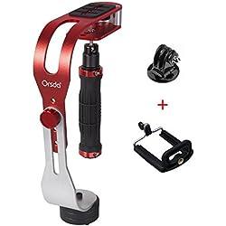 Orsda Pro caméra vidéo de poche stabilisateur Steady, Parfait Monopodes pour GoPro, Cannon, Nikon ou tout appareil photo reflex numérique jusqu'à 0,95 KG avec Smooth Glide Pro Steady Cam Rouge OR059