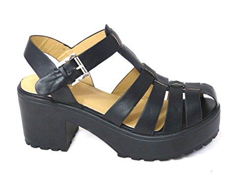 SKOS , Sandales pour femme Black (8552-2)